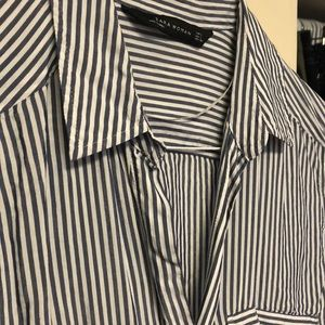 Zara Tops - Striped Button Down